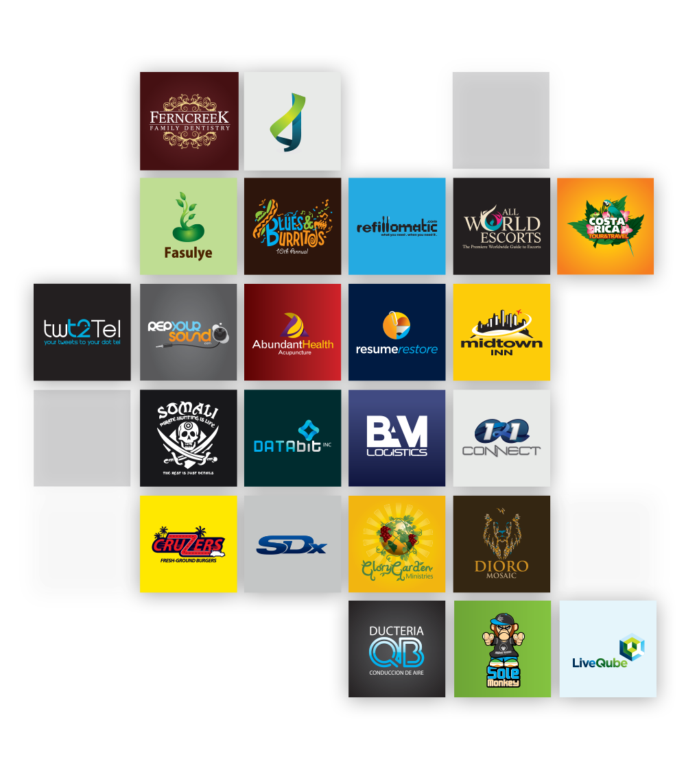 Collection of logos designed by LogoDesignCreation team