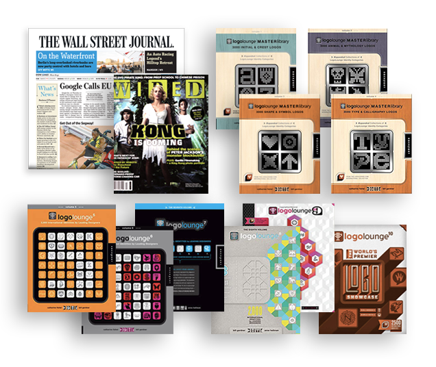 Wall Street Journal, Wired & Logo Lounge Book publication